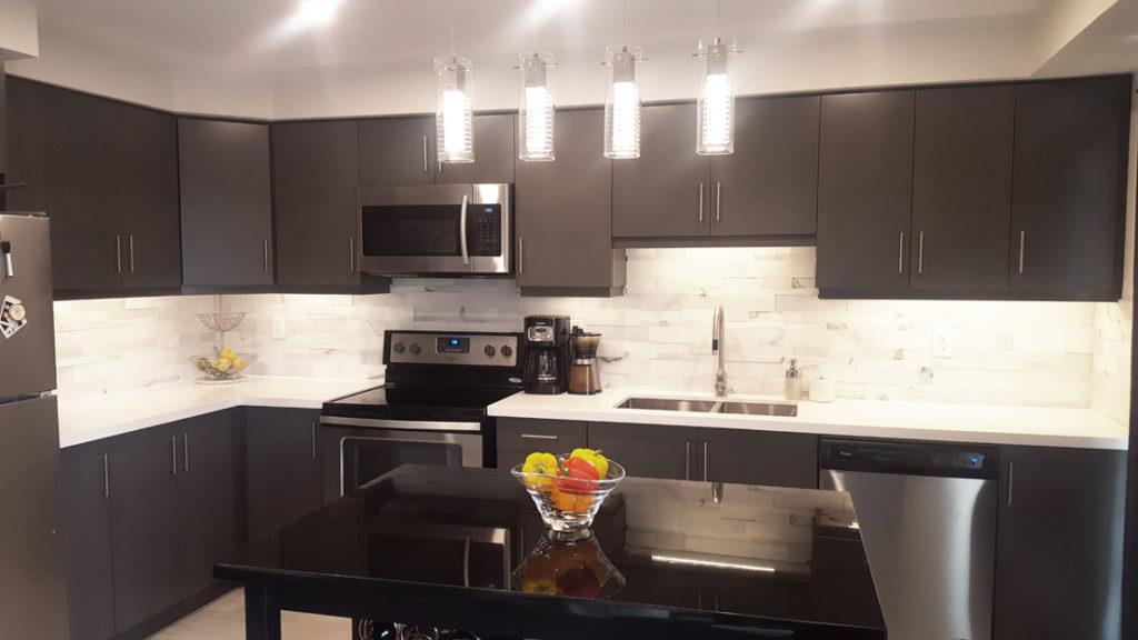 Kitchen Back splash and Lights