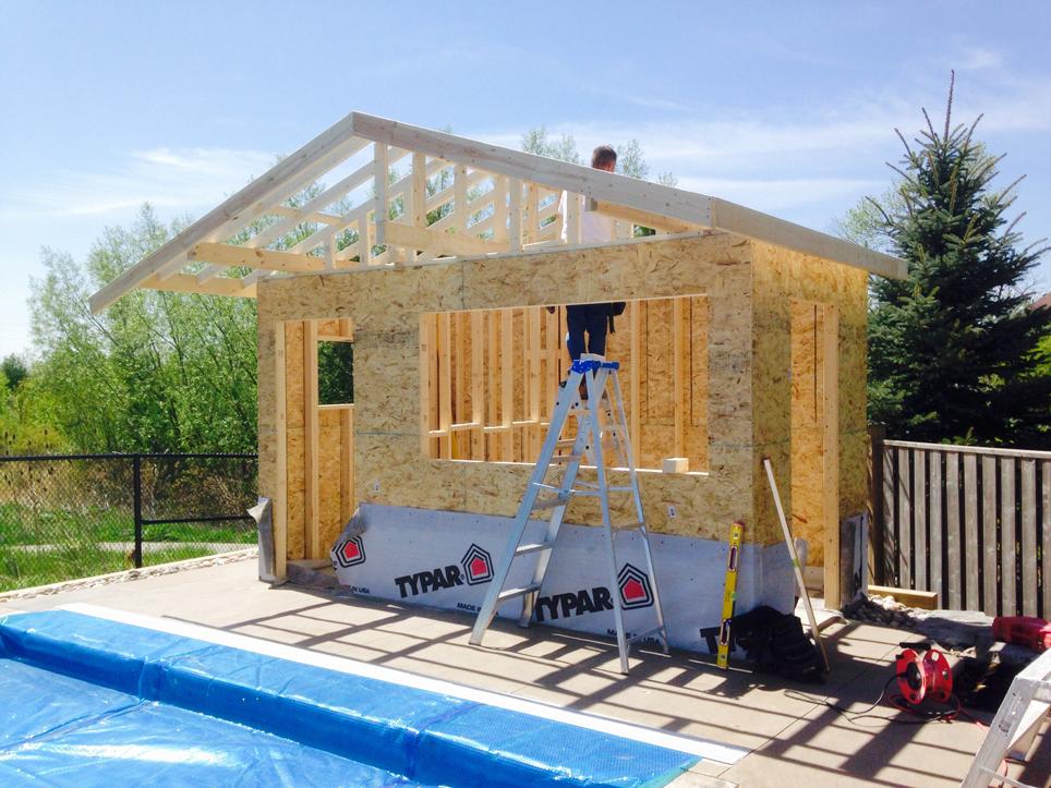 Pool House Framing
