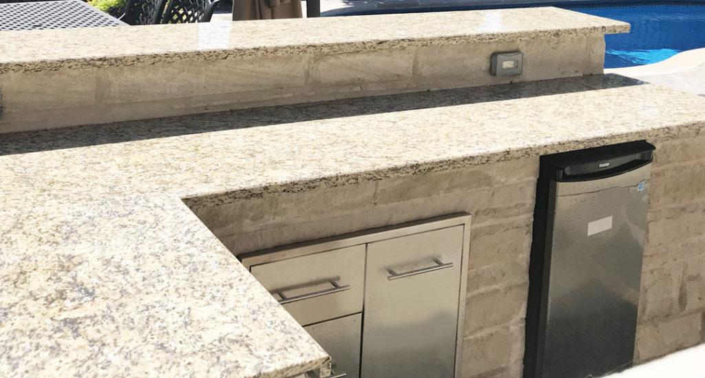 Outdoor BBQ Granite Repair